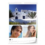 Calendrier photo mural (A3), papier photo, par Pixum