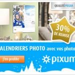 30% de remise sur les calendriers photo par PIXUM