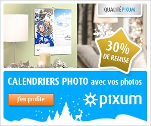 -30% calendriers photo Pixum